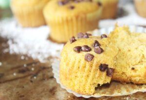 Moist Pumpkin Chocolate Chip Muffins