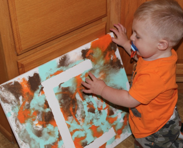 Painting Activity for Toddlers - Personalized Letter Wall Art