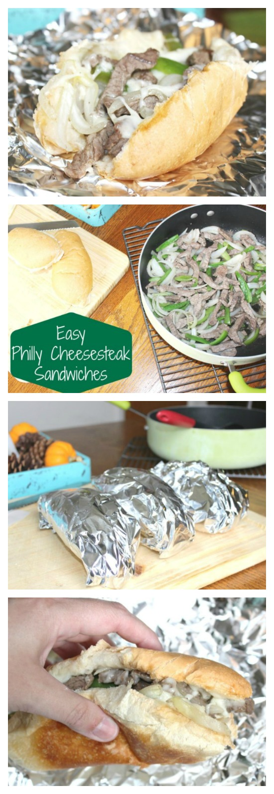 These Philly Cheesesteak sandwiches are easy to make and perfect for a weeknight dinner!