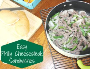 easy philly cheesesteak sandwiches