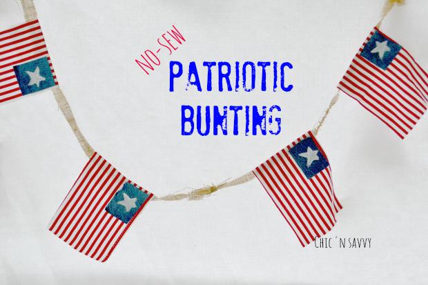 Diy Patriotic Bunting Craft Perfect For Memorial Day Or 4th Of