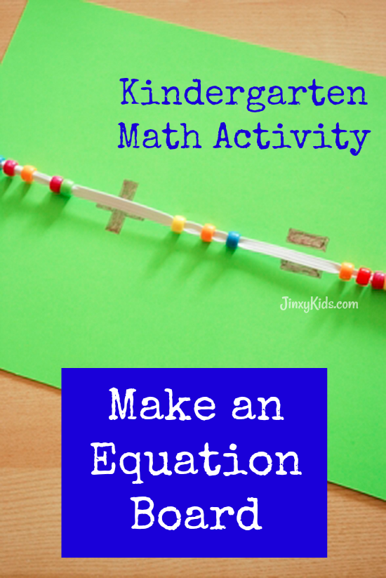 With this Kindergarten Math Activity, your child can make an equation board to be introduced to addition and subtraction equations without being perplexed!