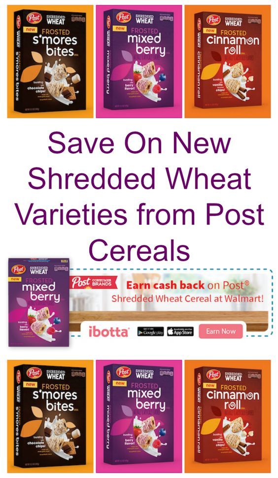 Save on New Shredded Wheat Varieties from Post Cereals at Walmart with a cashback offer from Ibotta! #PerfectionWithPost #CerealAnytime #ad