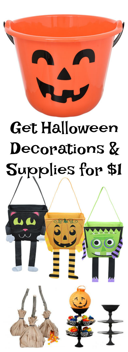 Get Halloween Decorations and Supplies for $1!