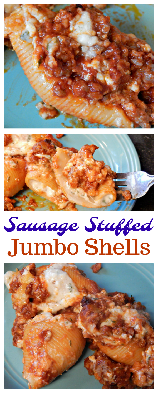 Sausage Stuffed Jumbo Shells Recipe Meaty Cheesy