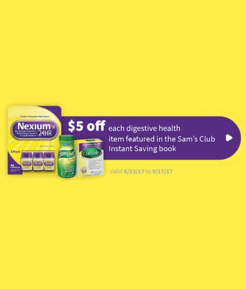 Save $5 Off Digestive Health Products at Sam's Club #DigestTheSavings #ad