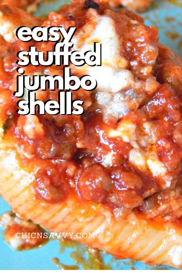sausage stuffed jumbo shells