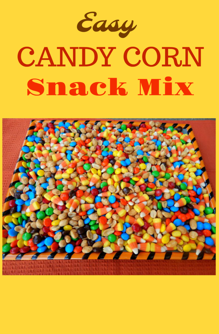 This fun Halloween party mix is super easy to make and filled with some of our favorite parts of Halloween! #snacks #snackmix #candycorn