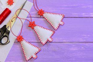 Homemade Felt Christmas Tree Ornaments