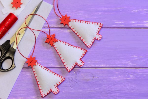 Homemade Felt Christmas Tree Ornaments