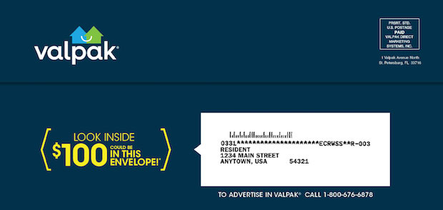 Valpak coupons by mail