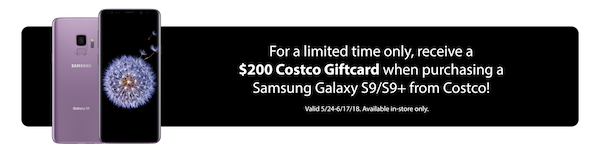 Samsung Galaxy S9 Costco