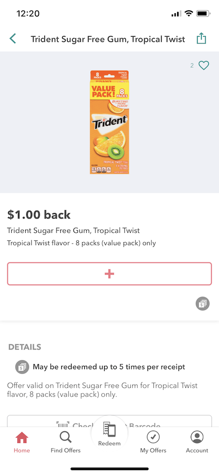 Trident at Walmart $1 Ibotta Cash Back Offer + a Sweepstakes
