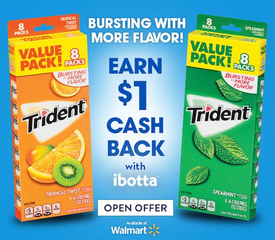 Ibotta Trident Offer Walmart