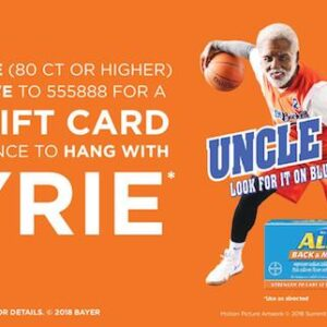 aleve sweepstakes gift card offer
