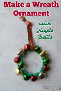 Make a Wreath Ornament with Jingle Bells