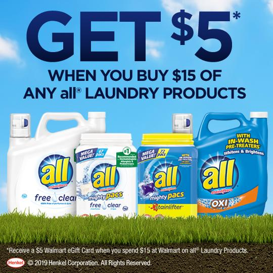 All Laundry Detergent Rebate Offer