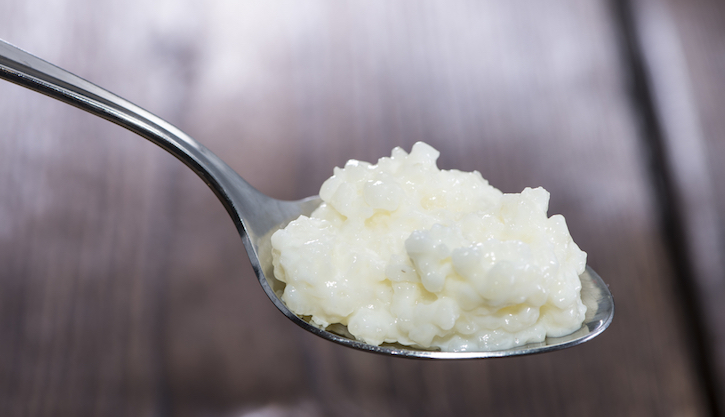Spoon with Rice Pudding