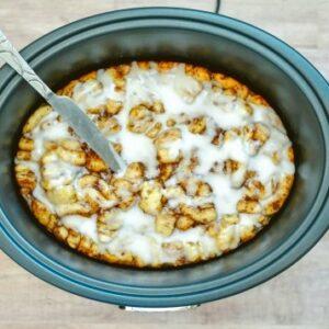 Cinnamon Roll Casserole in Crockpot