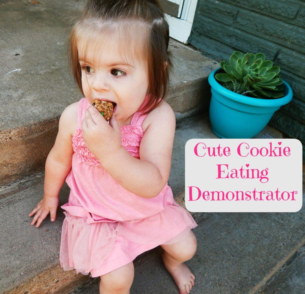 Eating No Bake Cookie Bites