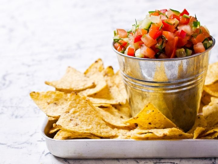 Cucumber Salsa with Chips
