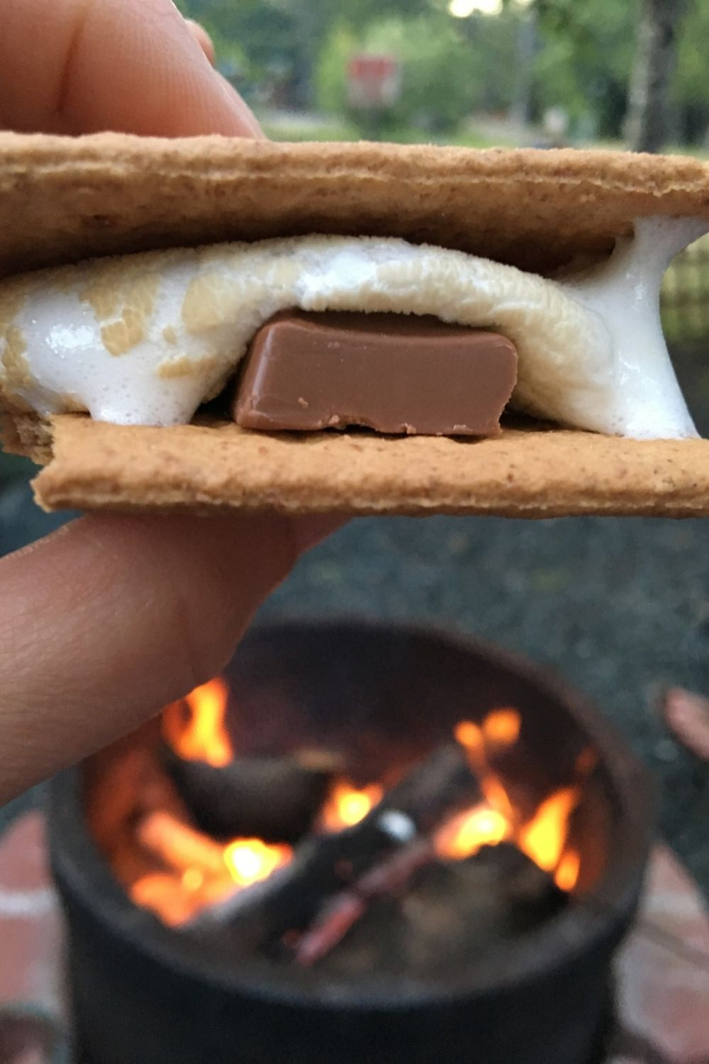 fire pit smores